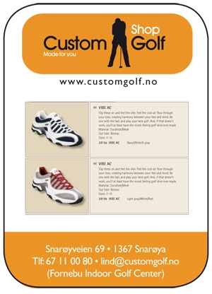 Logo og profilering for Custom Golf